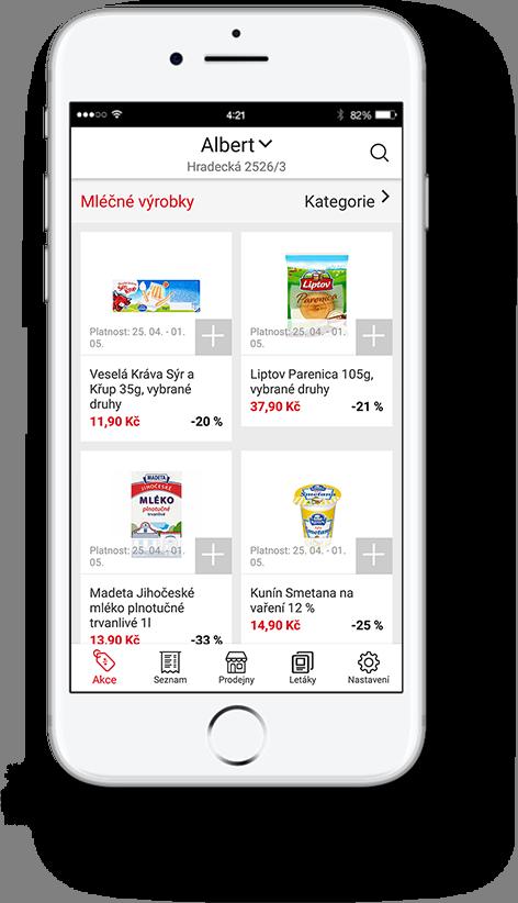 Mobilní aplikace AkcniCeny.cz